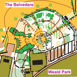 Weald Park map extract,